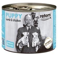 Retorn Lata Perro Puppy Cordero y Pollo 185 gr