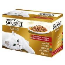 Purina Gourmet Gold Bocados en Salsa Surtido 12 x 85 g