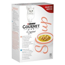 Purina Gourmet Crystal Soup Salmón y Atún 4 Sobres