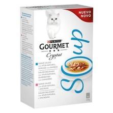Purina Gourmet Crystal Soup Atún 4 Sobres