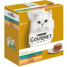 Purina Gourmet Gold Terrine Surtido 8 x 85 gr