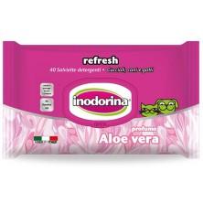 Toalhetes Indorina Refresh Aloe Vera, 40 unidades.