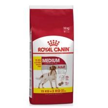 Royal Canin Medium Adult 15 + 3 Kg Grátis