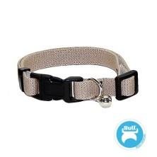 Bull Collar Elástico para Gatos Liso Beige