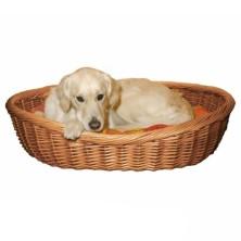 Berço Cão, Vime Claro, 50 cm