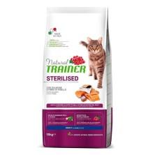 Natural Trainer Cat Adult Sterilized Salmón 10 Kg