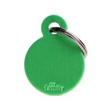Placa Identificativa Personalizada Círculo Aluminio Verde